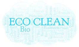 Eco干净的词云彩 向量例证