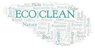 Eco干净的词云彩 皇族释放例证