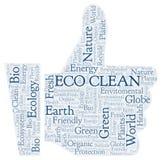 Eco干净的词云彩 库存例证