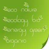 eco徽标纸张集 向量 图库摄影