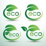 Eco徽标 免版税库存照片