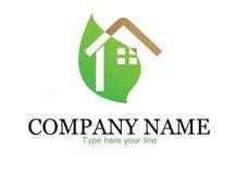 Eco房子商标 免版税库存图片