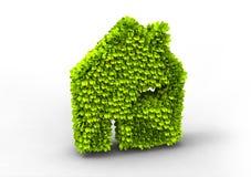 eco房子符号 库存照片