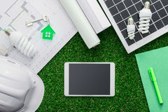 Eco房子项目 库存图片