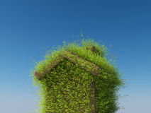 Eco房子 库存照片