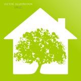 Eco房子 免版税图库摄影