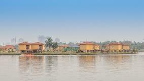 eco旅游业公园,加尔各答,加尔各答,西孟加拉邦,印度的看法 免版税库存照片