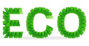 Eco标志被折叠的纸 图库摄影