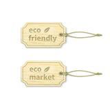Eco标记设置了1 4 库存照片