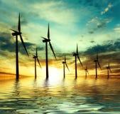 Eco次幂,风轮机 免版税库存图片