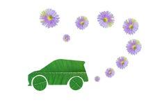 Eco汽车救球 免版税图库摄影