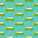 Eco汽车无缝的样式 向量例证