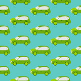 Eco汽车无缝的样式 免版税库存图片
