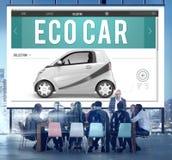 Eco汽车电能燃料杂种创新插座概念 免版税库存图片