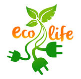 Eco生活商标 图库摄影