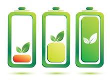Eco电池充电水平 皇族释放例证