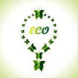Eco电灯泡背景 免版税库存图片