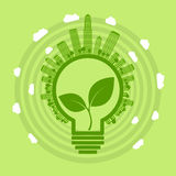 Eco电灯泡 免版税库存图片