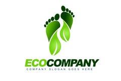 Eco留下徽标 皇族释放例证