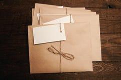 从eco纸的信封 免版税库存照片