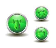 Eco绿色回收图标 免版税库存照片