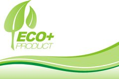 eco绿色小叶 免版税库存图片