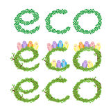 Eco绿色留下结构树 免版税库存照片