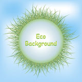 Eco背景草 免版税图库摄影
