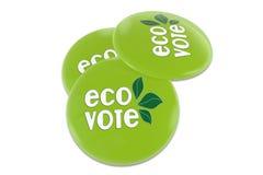 Eco表决徽章 免版税图库摄影