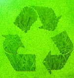 eco被构造的草符号 免版税图库摄影