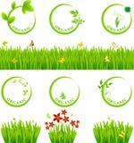 Eco象和草 免版税库存图片