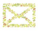 Eco颜色信包概念 免版税库存照片