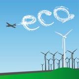 Eco风车 库存照片