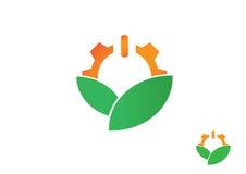 Eco齿轮商标象 库存图片