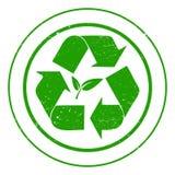 Eco återvinningtecken Arkivfoton