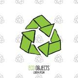 Eco é o luxo novo Mão original vetor de alta qualidade tirado Imagens de Stock