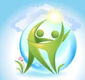 Eco-ícone Imagens de Stock Royalty Free