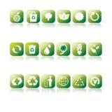 Eco & ícones Recycle ilustração do vetor