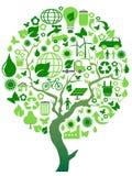 eco środowiska zieleni drzewo ilustracja wektor