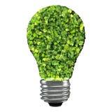 Eco żarówka robić od zielonych liści Obrazy Stock