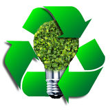 Eco żarówka robić od zielonych liści Zdjęcia Stock