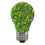 Eco żarówka robić od zielonych liści Fotografia Royalty Free