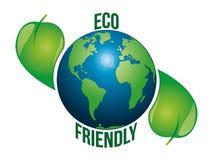Eco życzliwa ziemia ilustracja wektor