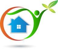 Eco życzliwy dom ilustracja wektor
