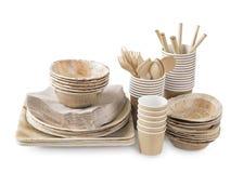 Eco życzliwy rozporządzalny tableware zdjęcia stock