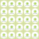 Eco βιο σύνολο λογότυπων οργανικής τροφής διανυσματικό Στοκ εικόνα με δικαίωμα ελεύθερης χρήσης