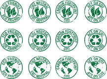 Eco γραμματοσήμων φιλικό διανυσματική απεικόνιση