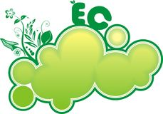 eco εμβλημάτων Στοκ Εικόνες