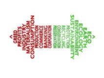 Eco ενάντια στην πλεονεξία ελεύθερη απεικόνιση δικαιώματος