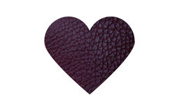 Eco-δερμάτινη πορφυρή καρδιά Στοκ Φωτογραφίες